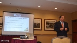 Jim McConnon, University of Maine, speaking on Business Tips for Financial Success